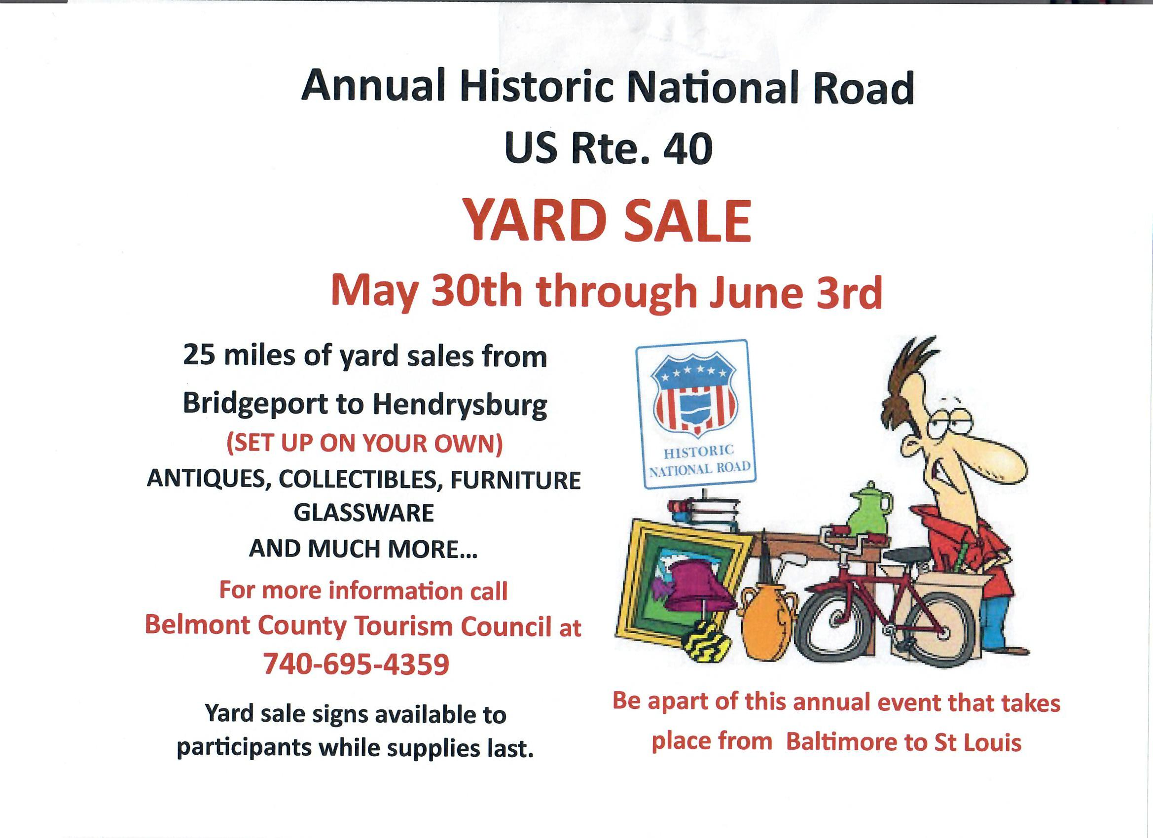National Road Yard Sale – YourRadioPlace.com – A Service of AVC on st louis personal ads, st louis flea market, north jersey garage sales,